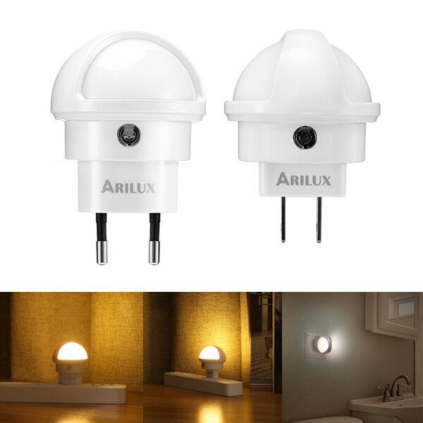arilux® 360 degree rotation smart light sensor led plug-in wall