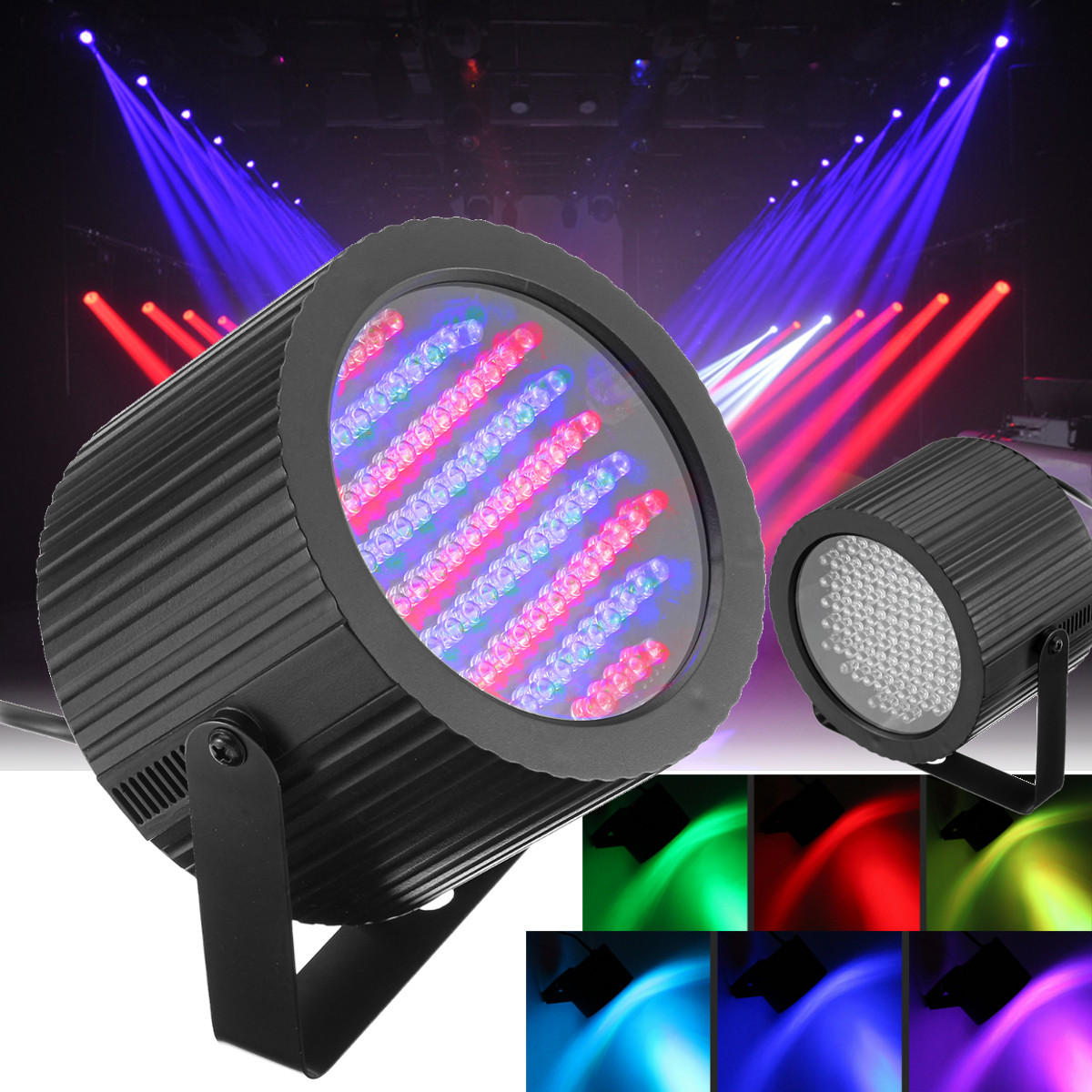Lighting Rgb 2pcs 86 Led Rgb Sound Active Stage Light Dmx Dj Disco Club Bar Strobe Lighting