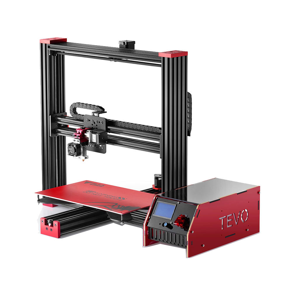 Bad 3d Planer Tevo Black Widow Standard Version Diy 3d Printer Kit With Lcd Screen 370 250 300mm Large Printing Size 1 75mm 4mm Nozzle
