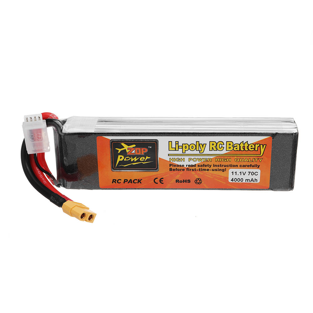 3s Lipo Zop Power 11 1v 4000mah 70c 3s Lipo Battery With Xt60 Plug For Rc Models