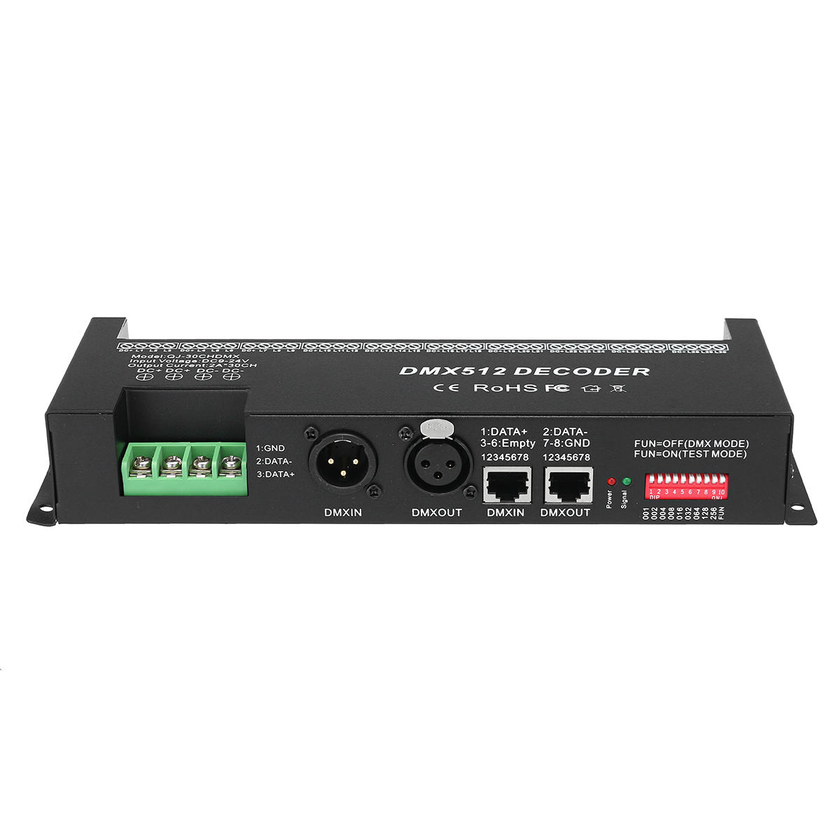 Led Dmx Dmx 512 30 Channels Led Decoder Controller For Rgb Tape Strip Light Dimmer Driver Dc9 24v