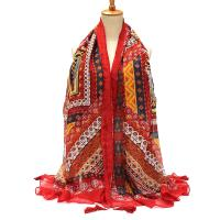 women ladies bohemian cotton linen scarves folk vintage ...