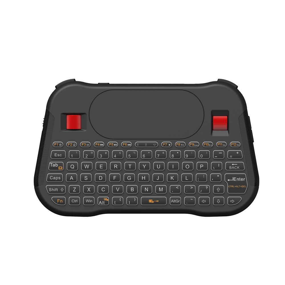 English Pc T18 Plus English 2 4ghz Wireless Keyboard Air Mouse Touchpad Handheld Backlight Controller For Tv Box Mini Pc Computer