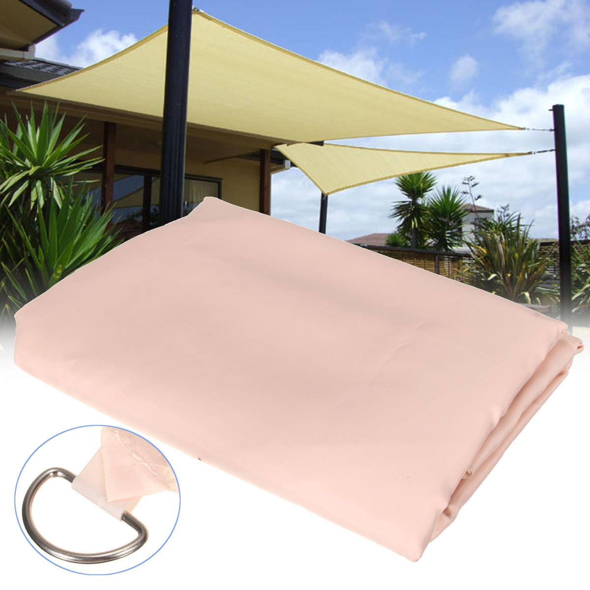 Window Canopy 2x3m Patio Outdoor Shade Sail Garden Cover Mesh Net Polyester Car Window Awning Carport Canopy