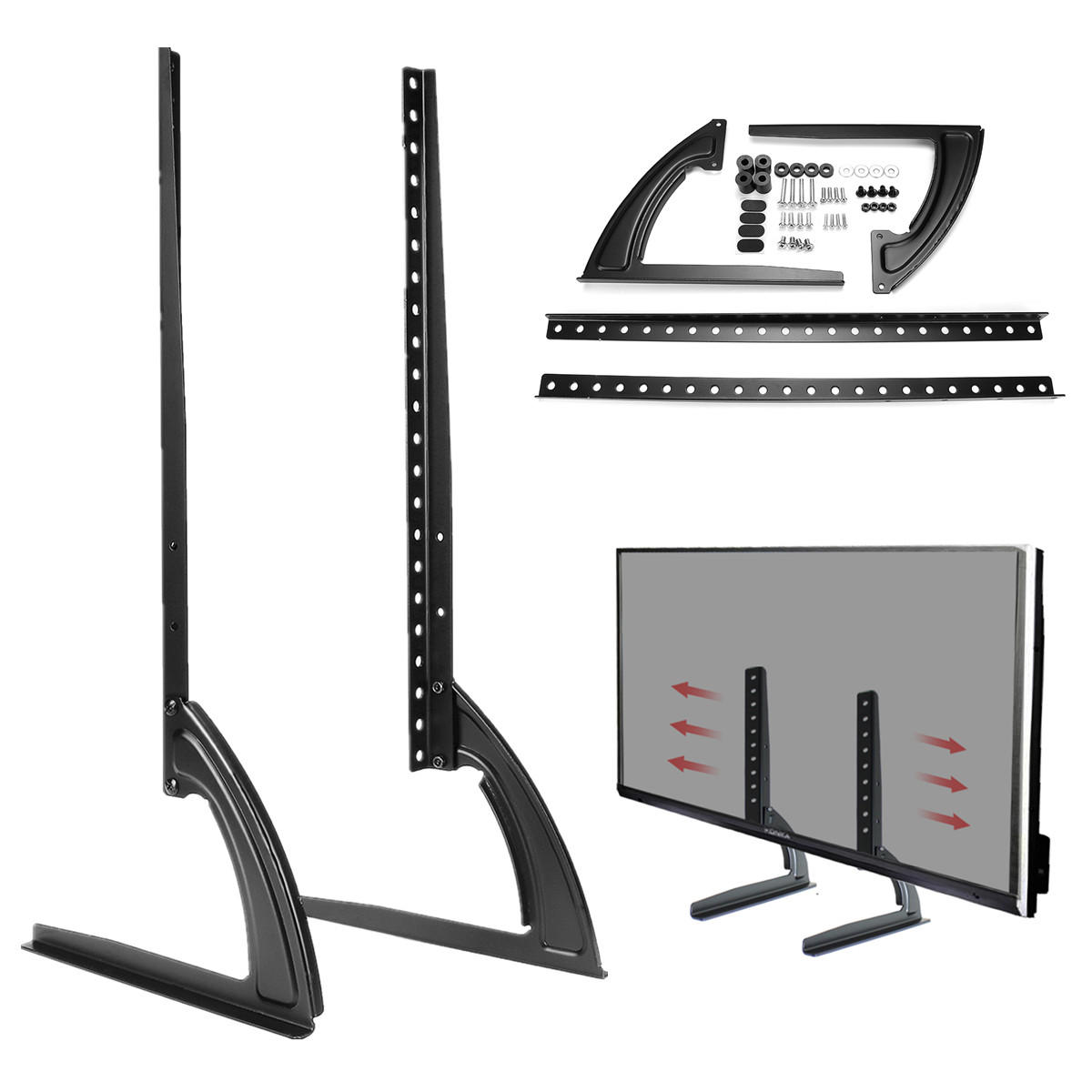 Flat Screen Tv Stands Universal Table Top Tv Stand Legs For Led Lcd Plasma Flat Screen Tv 26 65inch