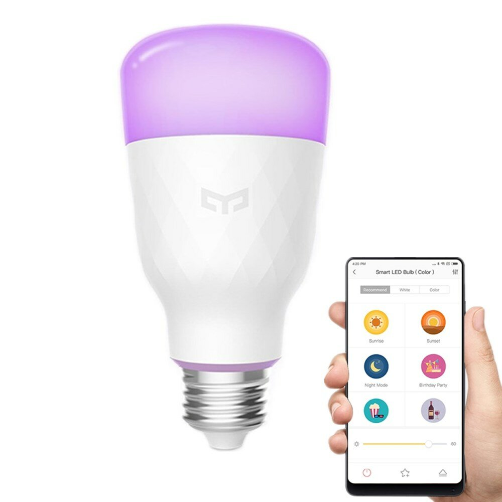 Smart Led Bulb Xiaomi Yeelight Yldp06yl E26 E27 10w Rgbw Smart Led Bulb Wifi App Control Ac100 240v