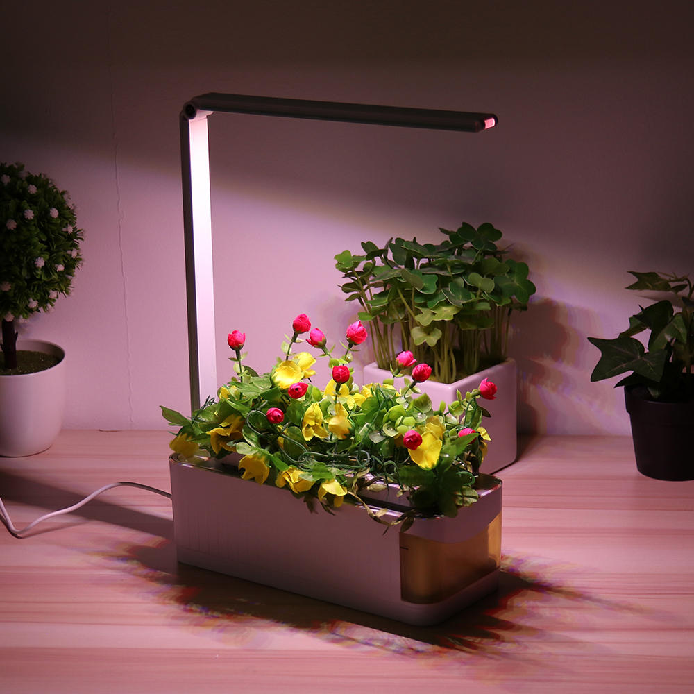 Lamp Plant Indoor Herb Adjustable Hydroponic Garden Flower Grow Lamp Kit Planting Light Pot With Yellow Visible Window