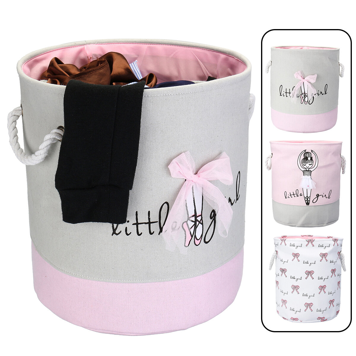 Cute Laundry Hamper Foldable Kids Toy Clothes Storage Bag Printed Laundry Hamper Clothes Washing Baskets Laundry Basket
