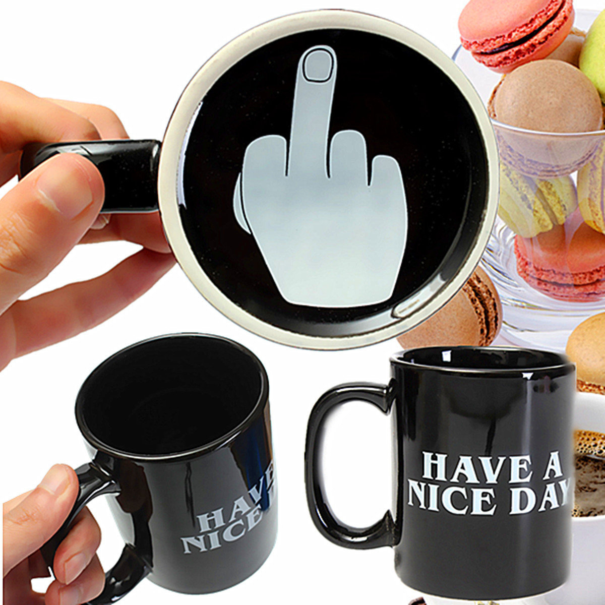 Where To Buy Nice Coffee Mugs 10oz Novelty Ceramic Middle Finger Coffee Cups Personality Office Gifts Have A Nice Day Mug