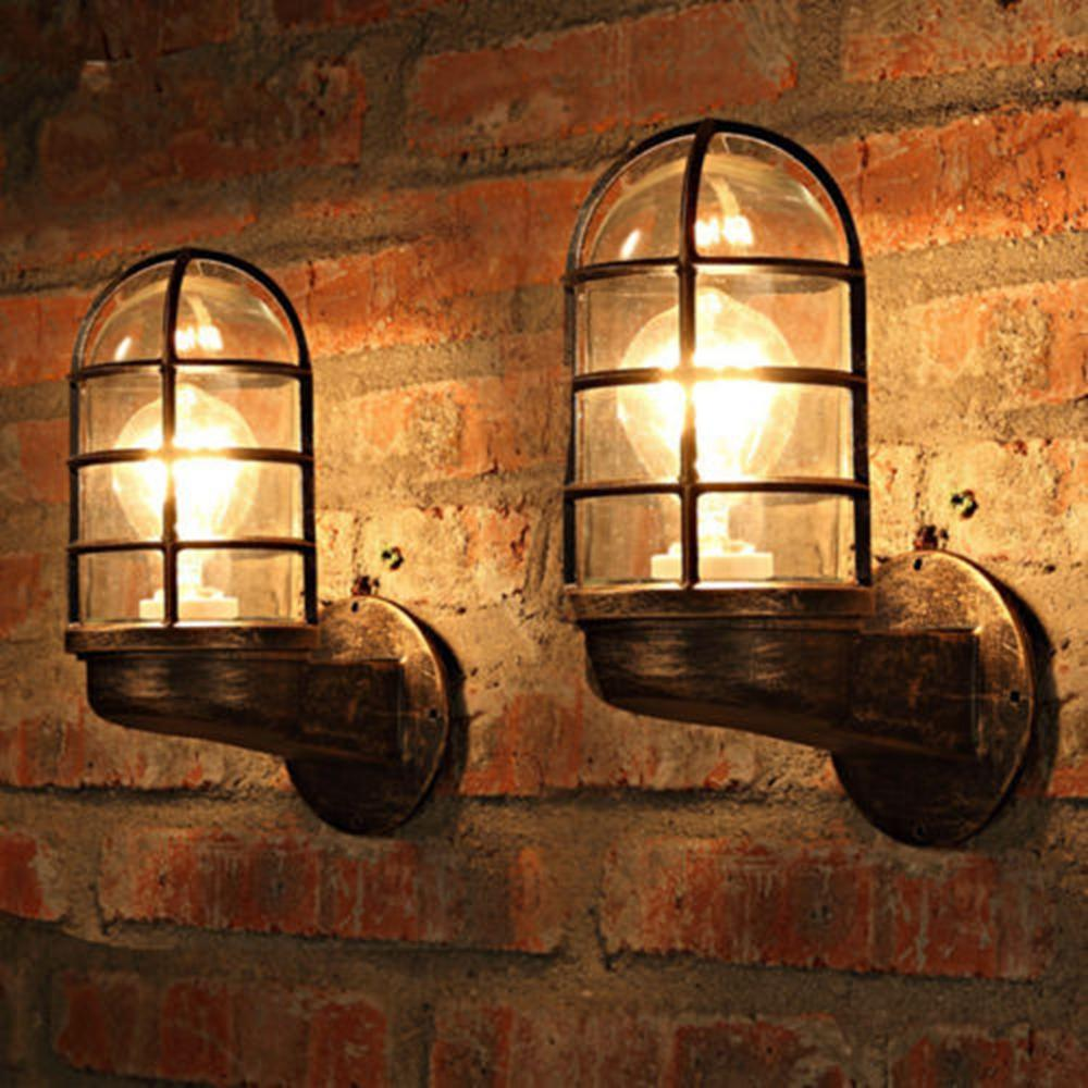 Industrial Vintage Vintage Industrial Unique Wall Light Iron Cafe Shop Restaurant Bar Wall Lamp