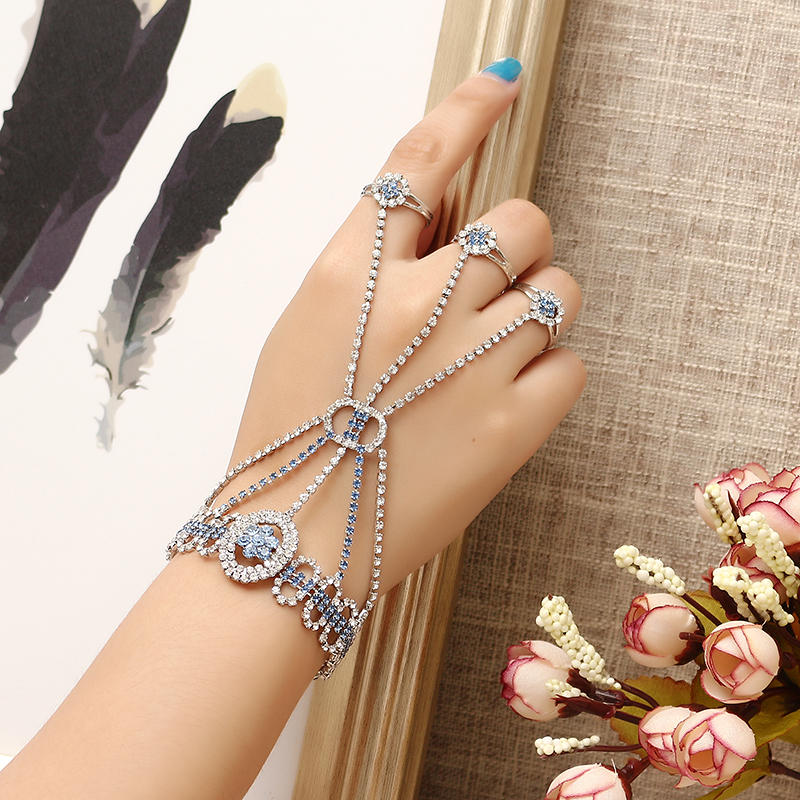 jassy® fashion luxury palm bracelet with 3 rings at Banggood