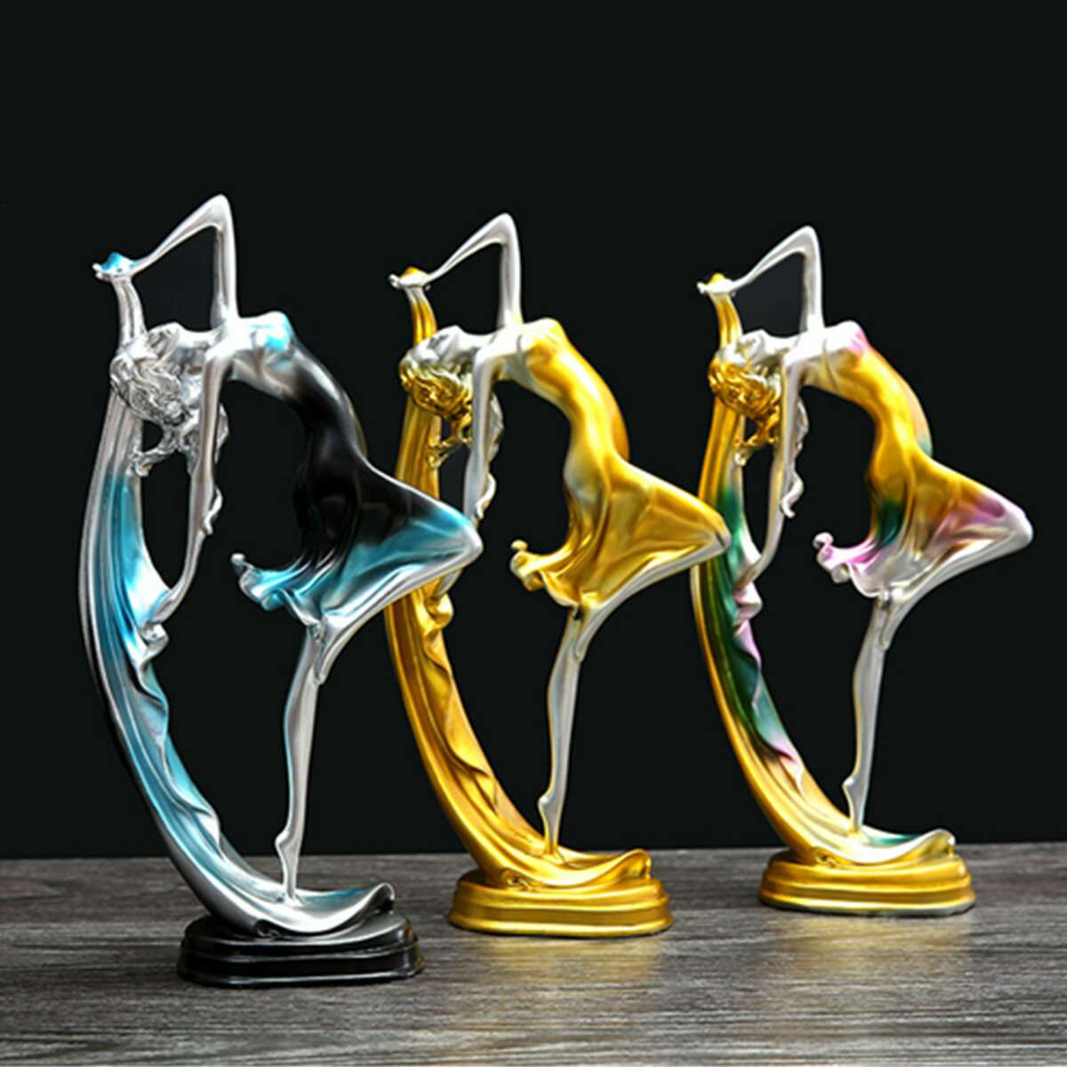 Decoration Art Deco Elegant Dancing Girl Decoration Resin Art Deco Sculpture Abstract Statue Decorations