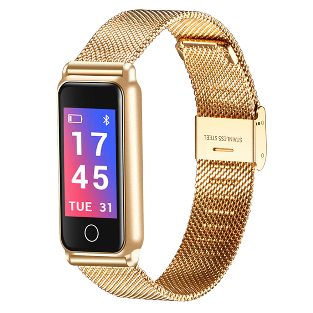 Y 8 Y8 Color Screen Smart Watch Hr Blood Pressure Monitor Stainless Steel Text Push Smart Bracelet