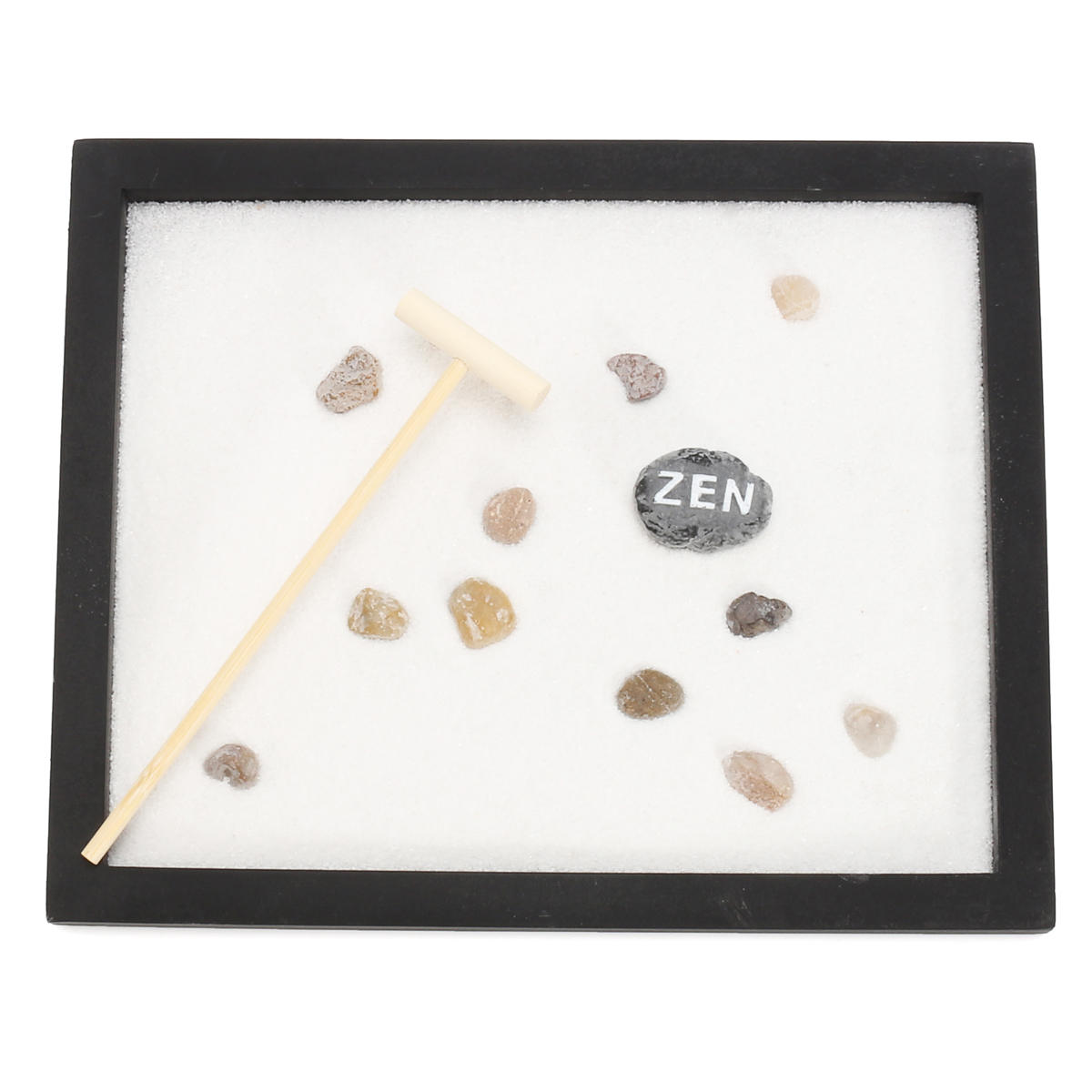 Table Top Zen Garden Yoga Meditation Zen Garden Japanese Rock Gardens Kits Feng Shui Decor Sand Table Top Rake