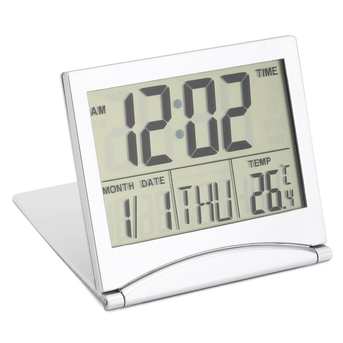 Alarm Timer Digital Lcd Screen Travel Alarm Clocks Table Desk Thermometer Timer Calendar