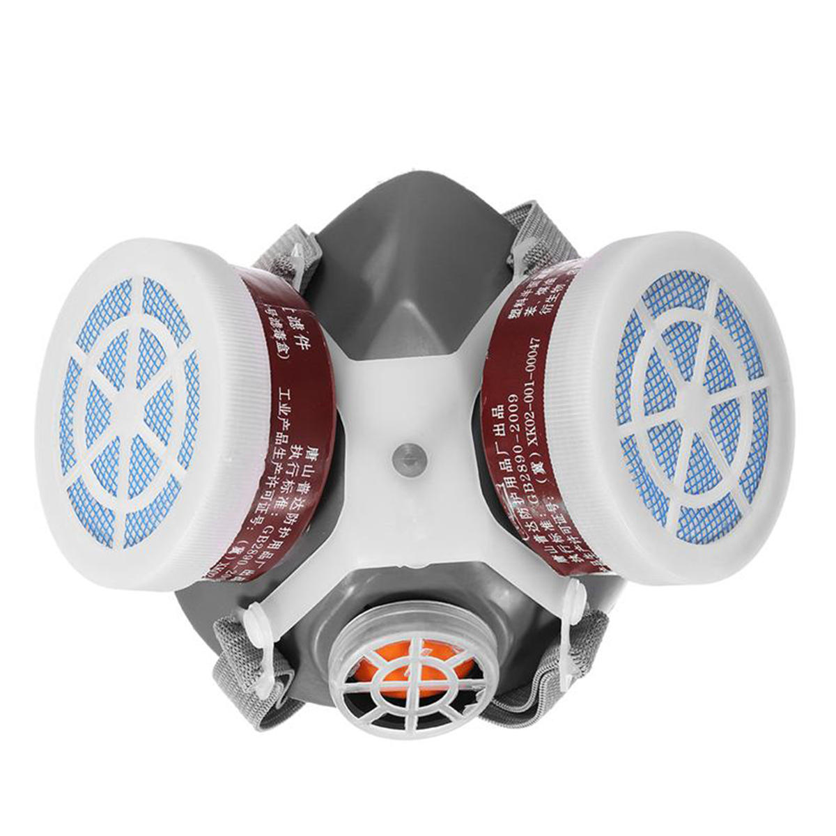 Respiratory Mask Safety Respiratory Gas Mask Half Face Dual Protection Filter Chemical Anti Dust