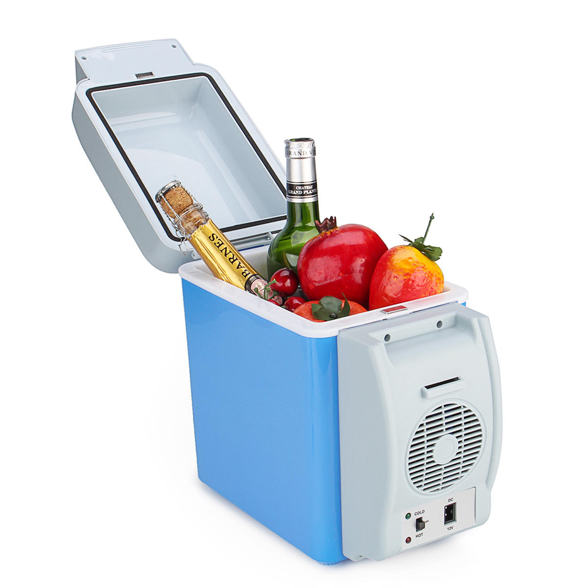 Small Portable Fridge 12v 7 5l Blue Portable Car Refrigerator Freezer Cooler Warmer Box Camping Fridge