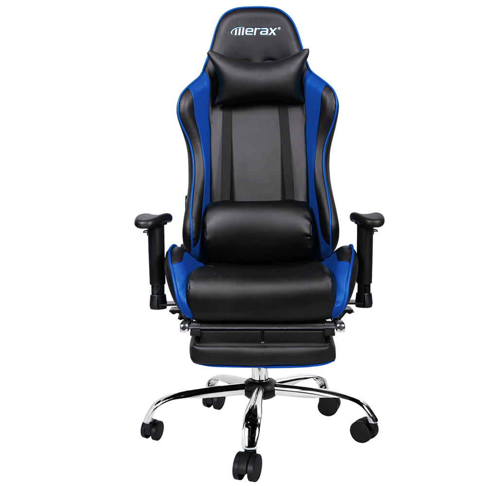 Best Sedia Gaming Merax Ergonomic Racing Gaming Chair With Adjustable Armrests High Back Pu Leather Chair With Footrest Home Office Folding Chair