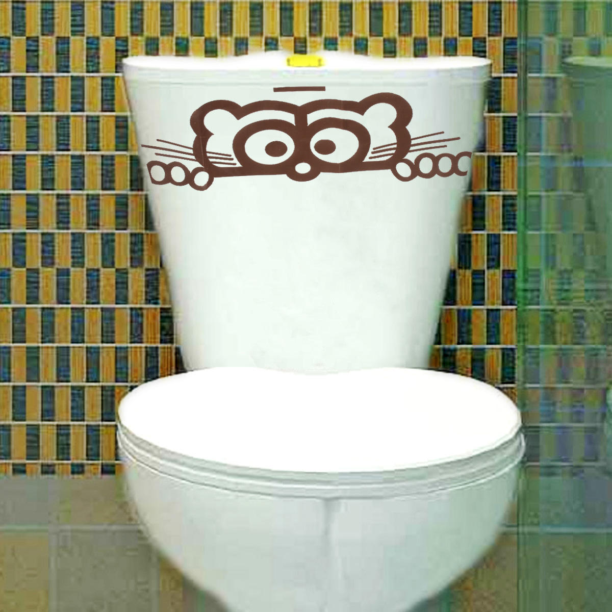 Wandtattoo Tapete Wall Sticker Wc Peeping Wc Sitz Decals Wandtattoo Tapete Entfernbare Dekor