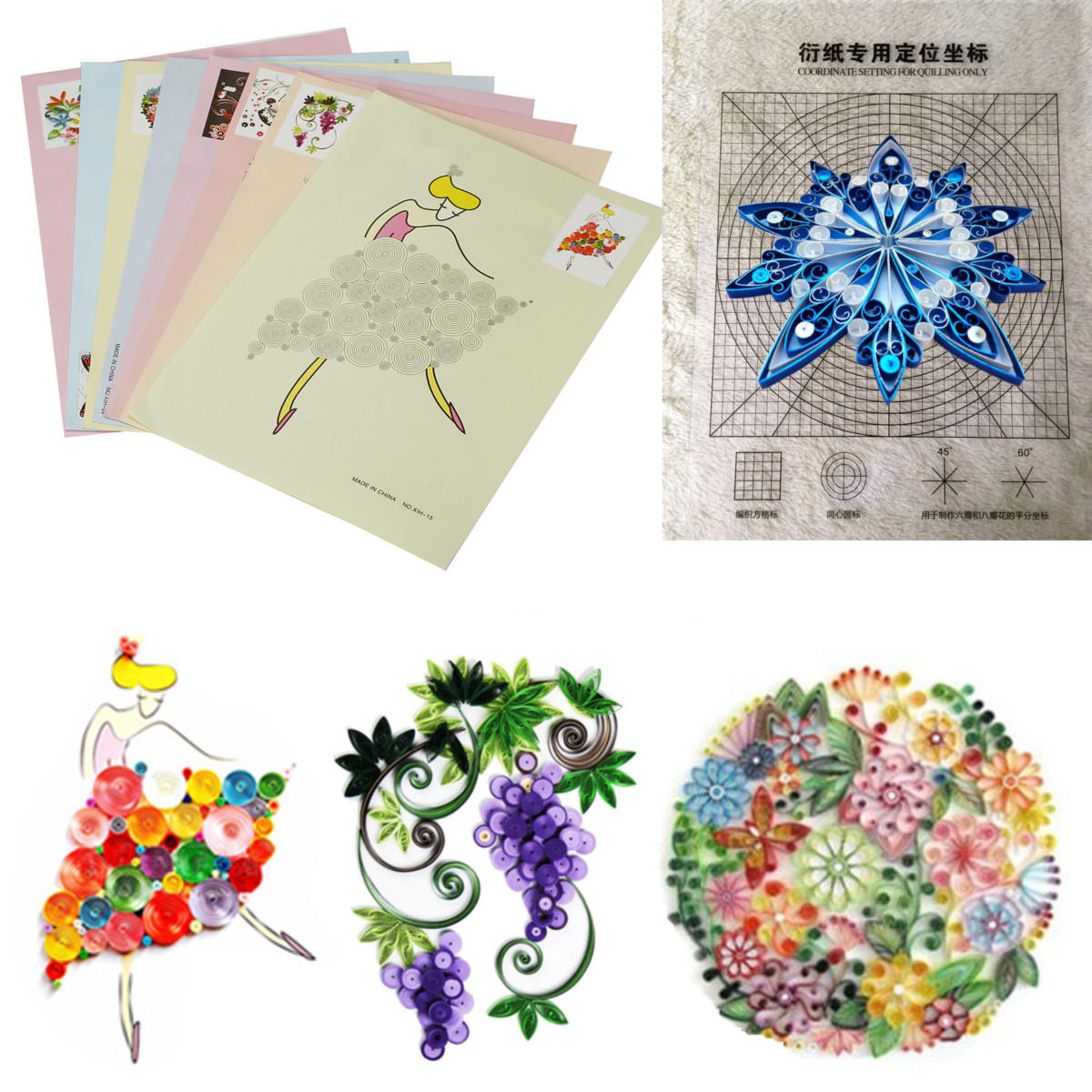 Craft Online Store 18pcs Diy Release Drawing Locating Paper Quilling Tool Craft Paper Art Collection Set