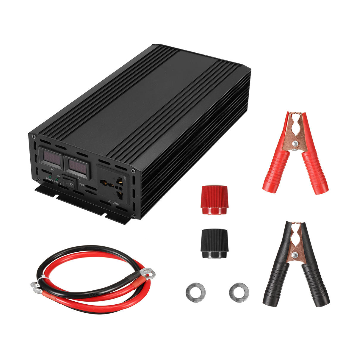 Ac Converter 3000w Peak Pure Sine Wave Power Inverter Led Dc 12v To 110v 120v Ac Converter