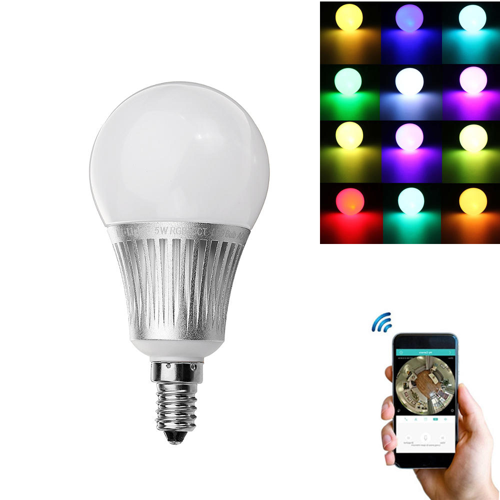 Smart Led Bulb Milight E14 5w Rgb Cct Dimmable Wifi App Phone Control Smart Led Global Light Bulb Ac85 265v