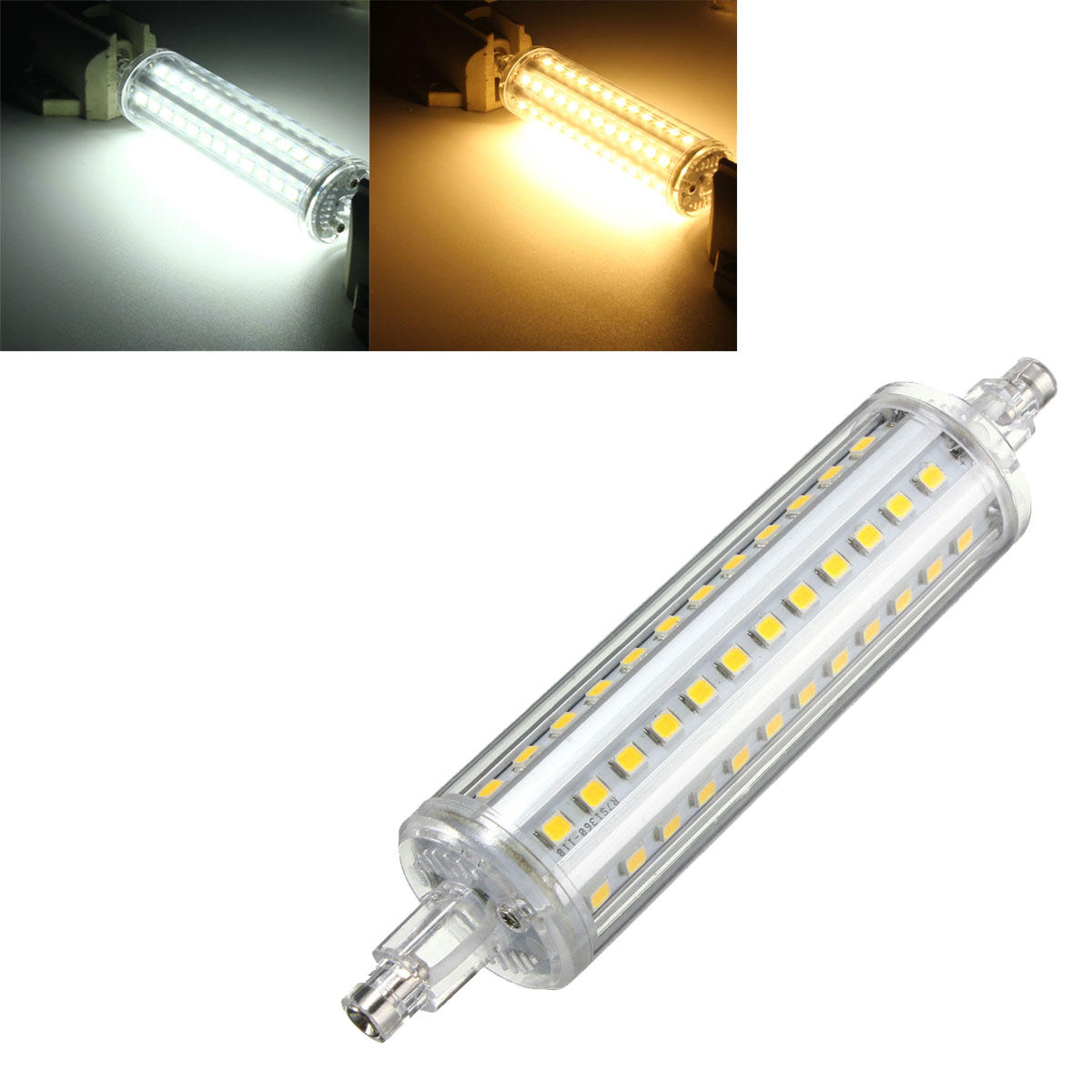 R7s Led Dimmable Dimmable R7s 8w 118mm 72 Smd 2835 Led Pure White Warm White Corn Light Lamp Bulb Ac85 265v