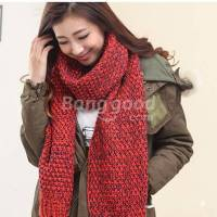 New Knitting Wool Scarves Korean Couple Thick Scarf - US ...