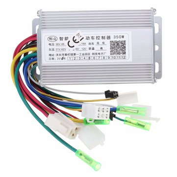 350w 36v/48v brushless controller for scooter e- bike with/without hall
