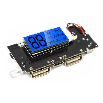 dual usb 5v 1a 21a mobile power bank 18650 battery charger pcb
