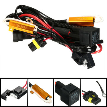 40a relay wiring harness 50w load resistor h1 h7 h11 9005 9006 h3