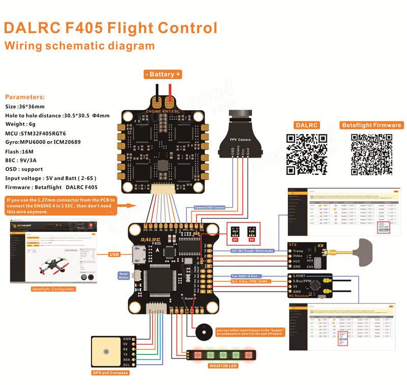 Dalrc F405 FC Dalrc Engine 4in1 ESC Stack (Limited Bundle