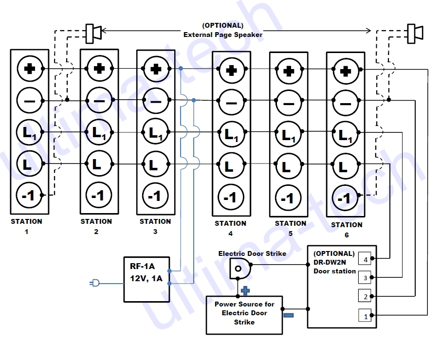 paging speaker wiring diagram