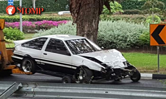 Gt86 Car Wallpaper Initial D Car Gets Towed After Accident At Bedok South