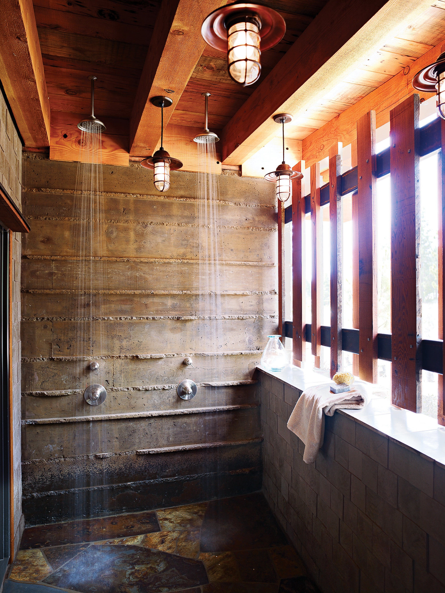 Industrial Outdoor Shower 14 Refreshing Outdoor Showers Sunset Magazine