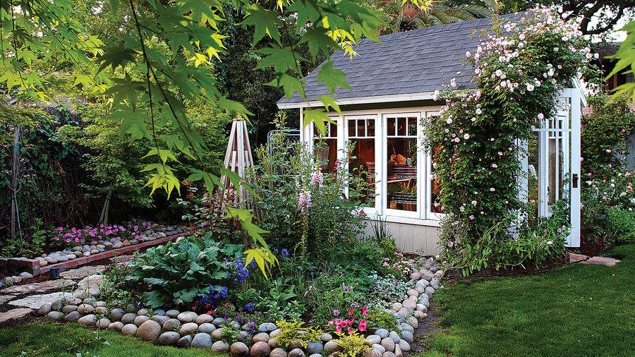 Garden Greenhouse Shed - Sunset Magazine