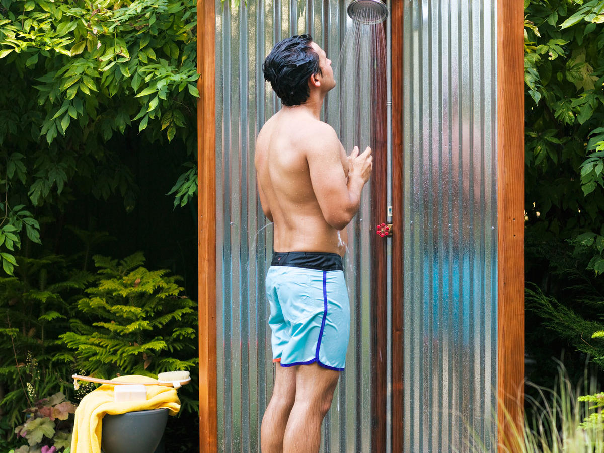 Make An Outdoor Shower Make Your Own Outdoor Shower Sunset Magazine