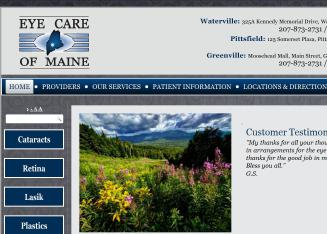 Maine Eye Care Associates In Waterville Me 325 Kennedy Memorial Dr Optometrists