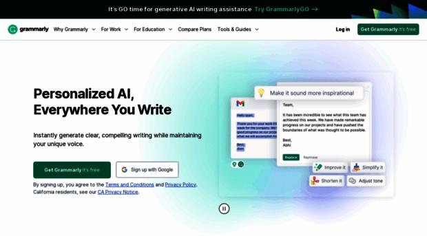 Grammarlycom Grammarly Free Writing Assist Grammarly