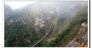 【南投。信義旅遊】登依希岸天時棧道瞭望喻為台灣黃石公園的大峽谷石壁雙龍瀑布之美