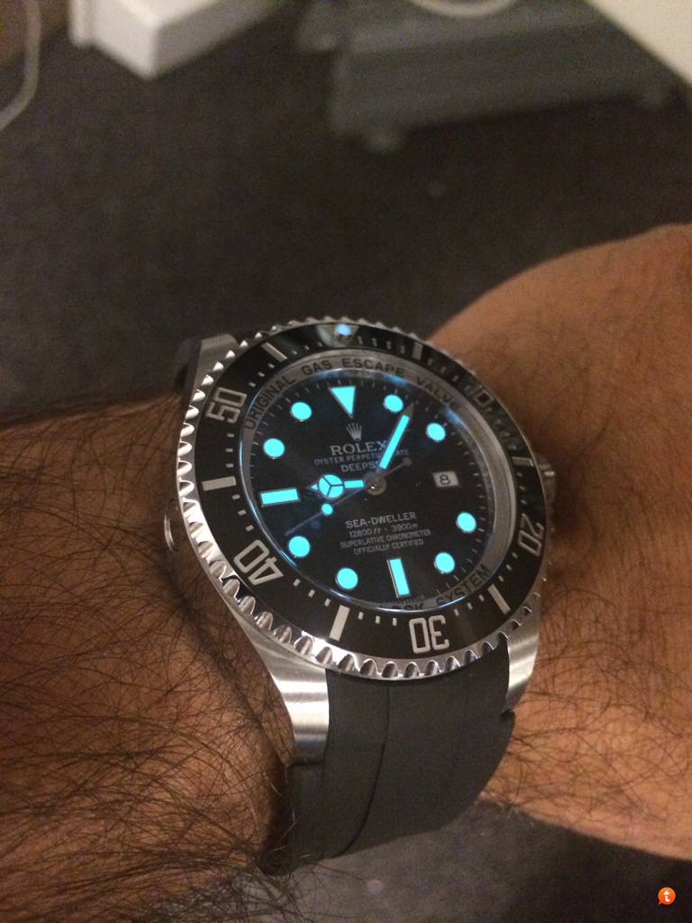 Rolex Rubber Rolex Deepsea Rubber B Or Steel Band