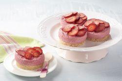 Showy Gelatin Dairy Free Strawberry Mousse Jar Cakes 100416 1 Strawberry Mousse Cake Recipes Strawberry Mousse Cake Recipe