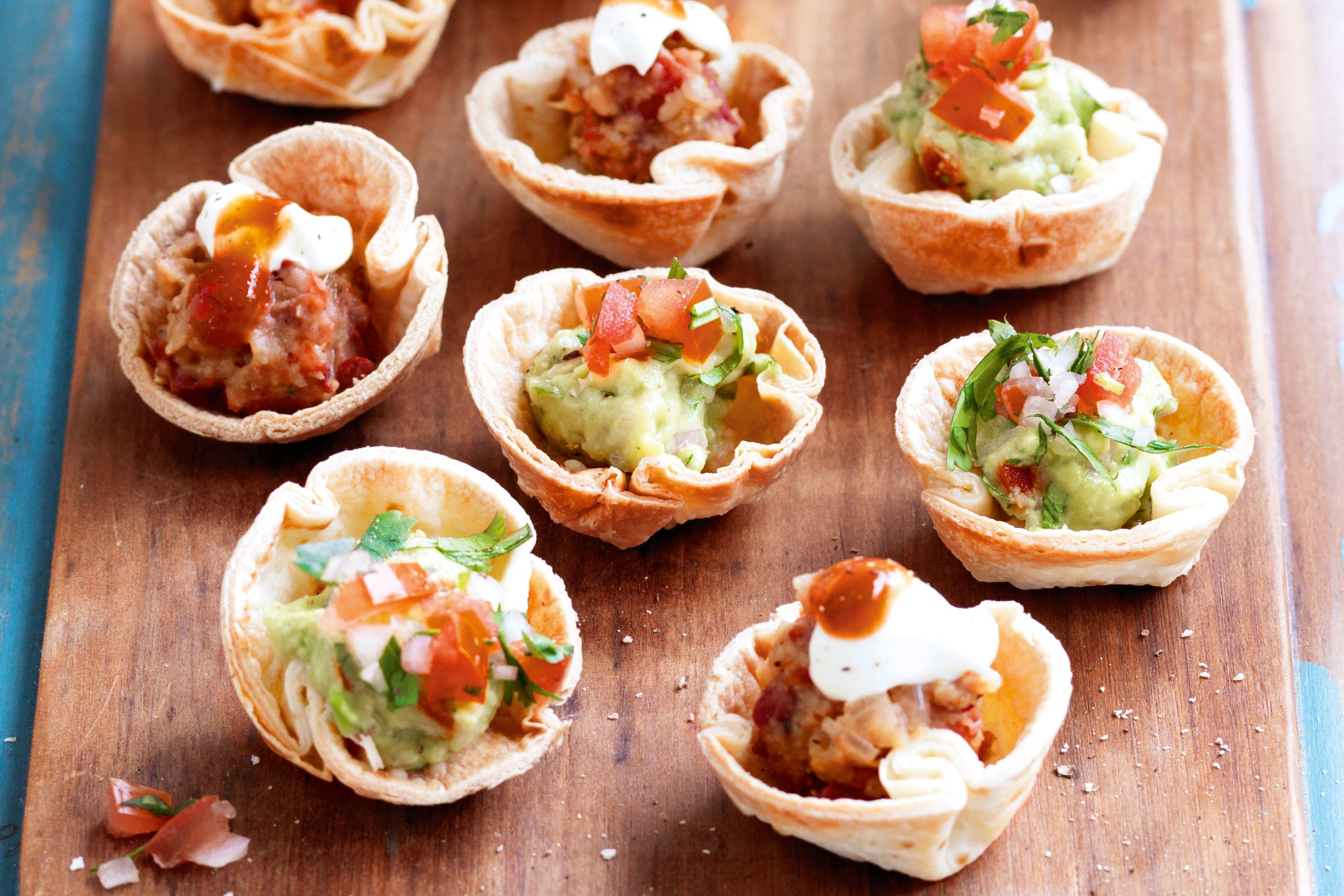 Canapés Wraps Mini Tortilla Cups Two Ways