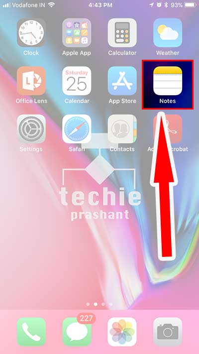 How to Use Document Scanner iOS11 Notes App - Techie Prashant
