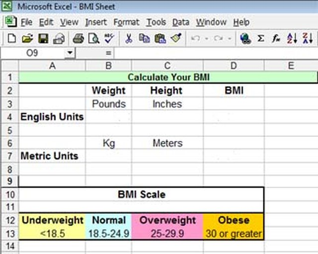How to Calculate BMI in Excel Techwalla