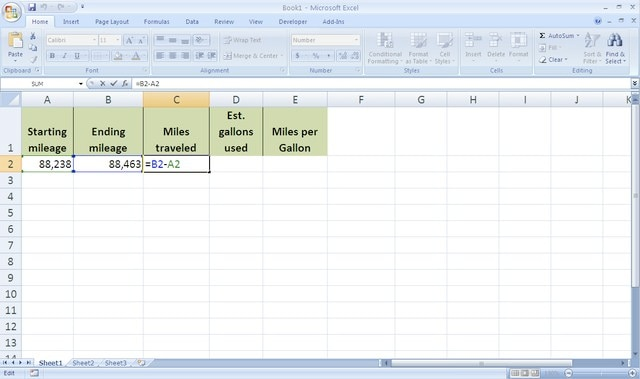 How to Calculate Gas Mileage in Excel Techwalla