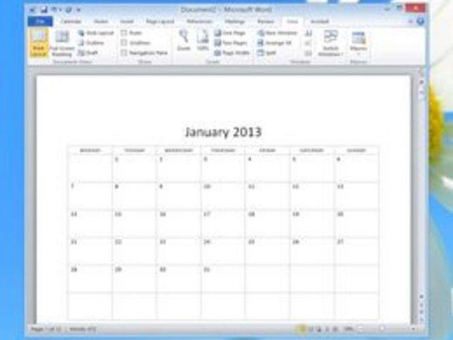 calendar template microsoft word 2007
