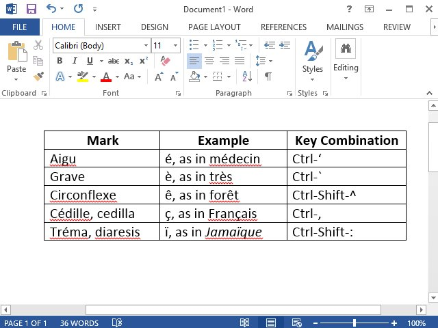 How to Type French Accent Marks in Microsoft Word Techwalla - resume with accents