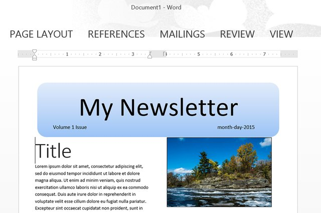word document newsletter templates