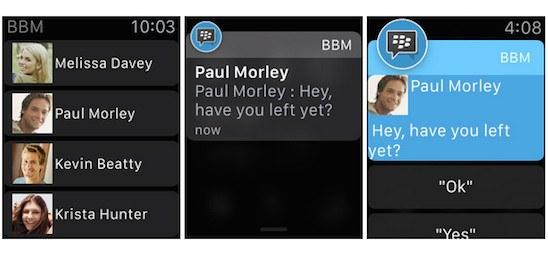 BBM llega al Apple Watch